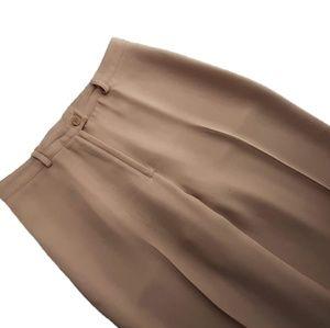 BCBGMaxAzria Tan Wide Leg Dress Pants